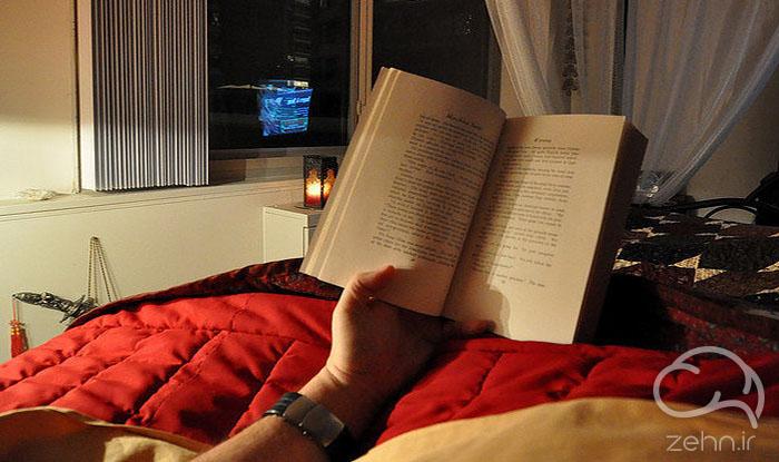 کتاب خواندن قبل از خواب