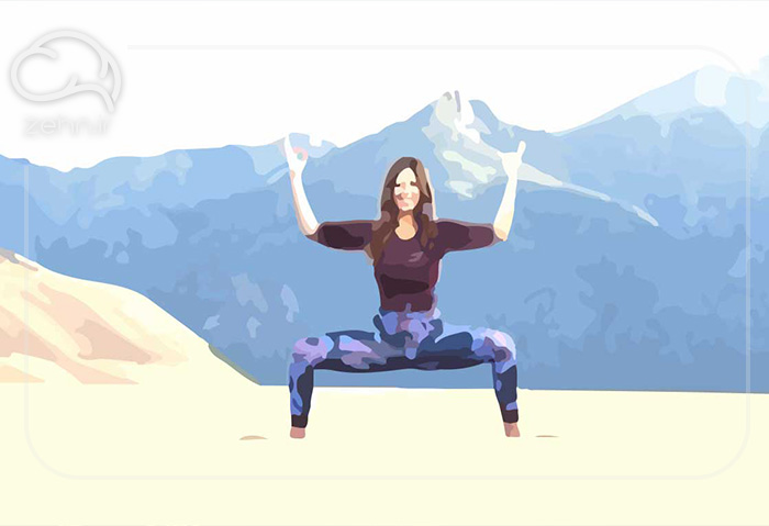 7 تکنیک چاکرا - اوتکاتا کوناسانا (وضعیت الهه)